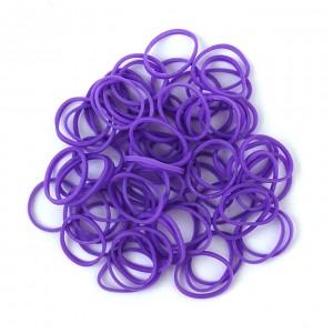 Elastiekjes lila kleur van Rainbow Loom® kun je kopen in de online webshop te koop van Loommania.nl ook voor band-it en funloom