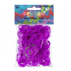 Elastiekjes neon lila kleur van Rainbow Loom® kun je kopen in de online webshop te koop van Loommania.nl