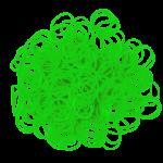 Elastiekjes neon groen kleur van Rainbow Loom® kun je kopen in de online webshop te koop van Loommania.nl ook voor band-it en funloom