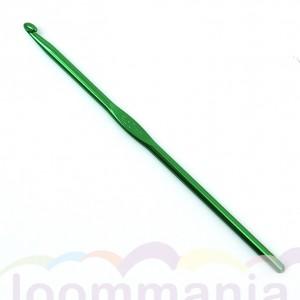 Een groene haaknaald, metallic voor rainbow, loom in online webshop kopen.
