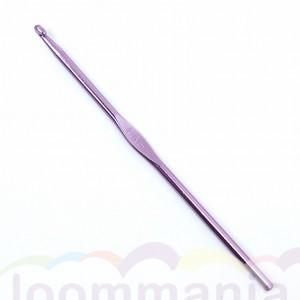 Een lila haaknaald, metallic voor rainbow, loom in online webshop kopen.