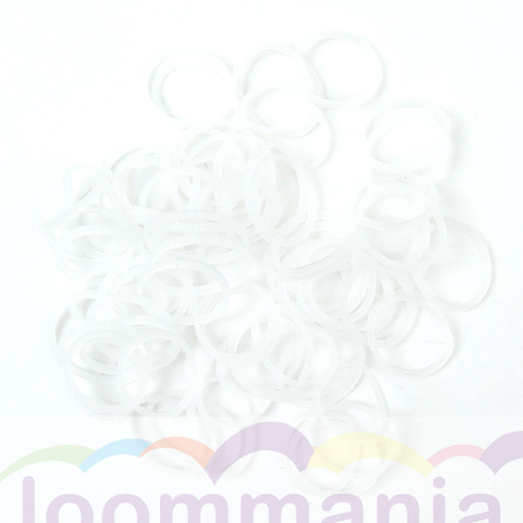 elastiekjes glitter wit van Rainbow Loom kopen in online webshop loommania.nl