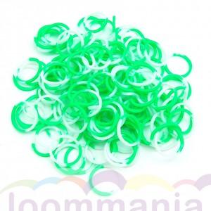 Elastiekjes groen wit rainbow loom kopen webshop online goedkoop