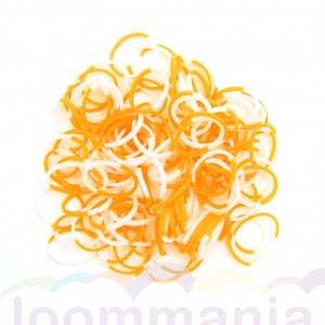 Elastiekjes oranje wit rainbow loom kopen webshop online goedkoop