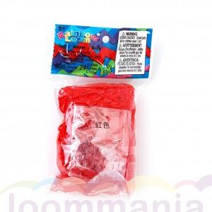 Rainbow Loom jelly rood elastiekjes kopen bij Loommania online webshop