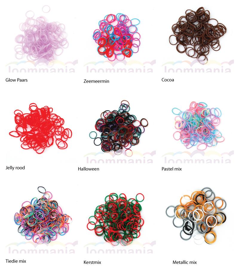 Nieuwe rainbow loom elastiekjes online bij Loommania.nl