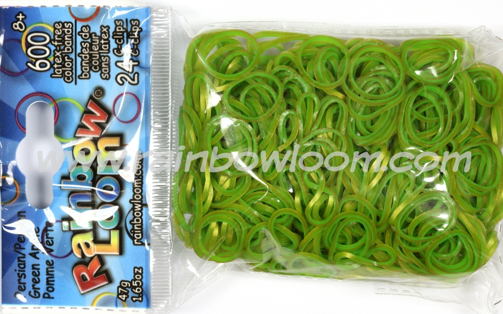 Persian Green applce elastiekjes van Rainbow Loom shop je via de loommania.nl webshop