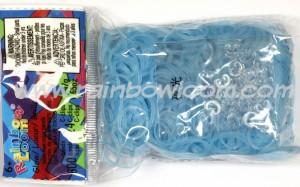 Rainbow Loom Elastiekjes blue glow online kopen bij de loommania.nl webshop.