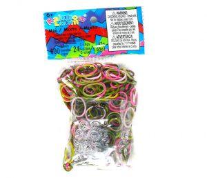 rainbow loom pink camouflage elastiekjes loommania